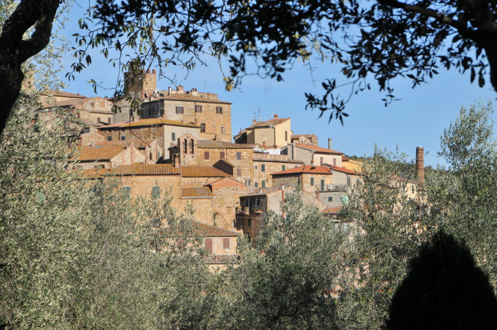 Image showing the olive oil producing hill town of Petroio in the Orcia Chiana Ridge