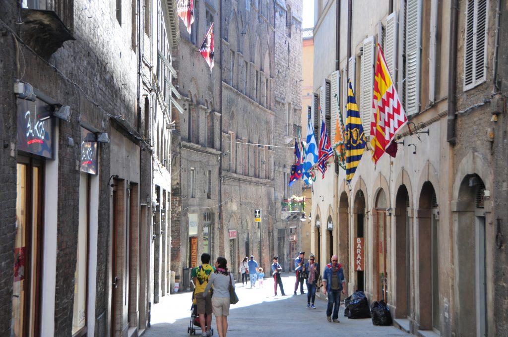 Palio Day in Siena Centre Sienna