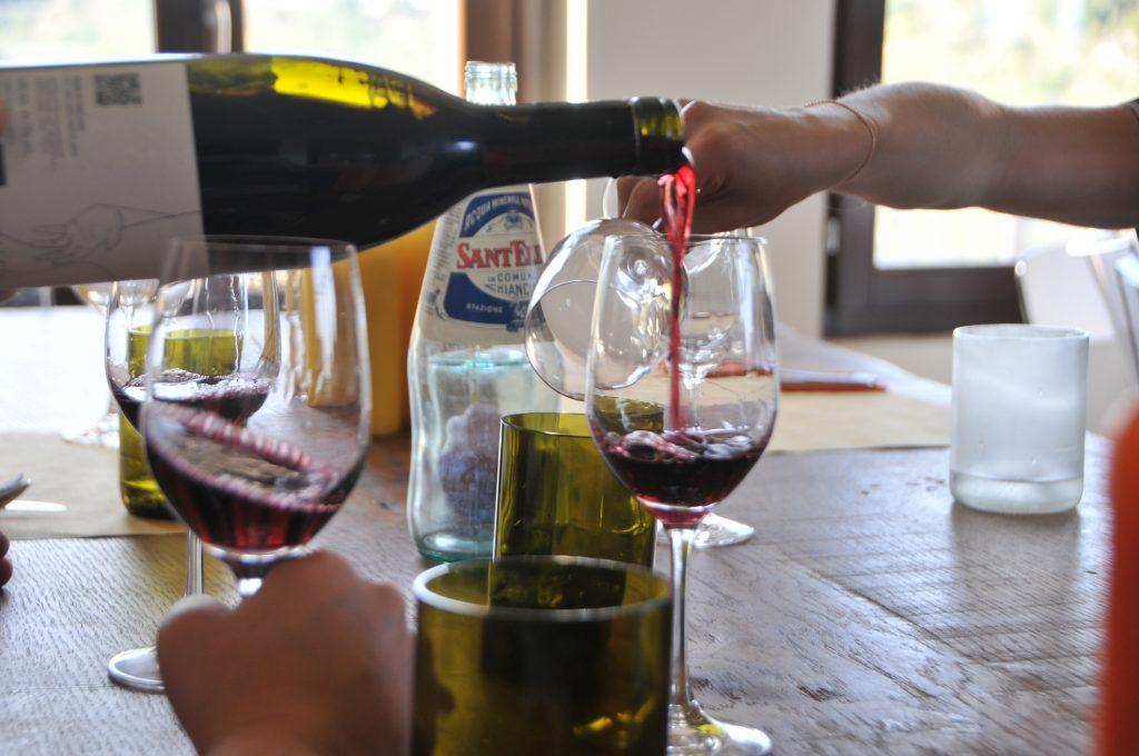 Vino Nobile di Montepulciano tasting at Salcheto